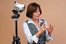 Judy Filek at training session